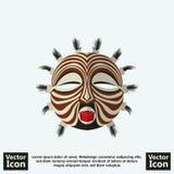 部族面具标志 库存图片