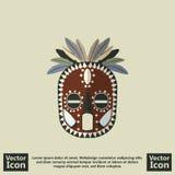 部族面具标志 免版税库存图片