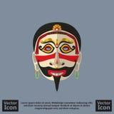 部族面具标志 免版税图库摄影