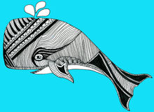 部族鲸鱼 库存例证