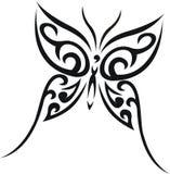 部族蝴蝶的纹身花刺 库存照片