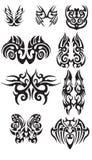 部族蝴蝶纹身花刺的 免版税库存照片