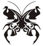 部族蝴蝶纹身花刺 库存照片