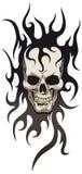 部族头骨的纹身花刺 免版税库存图片