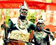 部族cosplay在Boishakh庆祝 免版税图库摄影