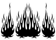 部族hotrod肌肉汽车剪影火焰成套工具 库存图片