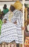部落象牙海岸的阿肯人人国王和头年会  免版税库存图片