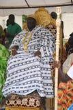 部落象牙海岸的阿肯人人国王和头年会  库存图片