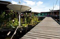 部落Ayer村庄-斯里巴加湾市-文莱 免版税库存图片