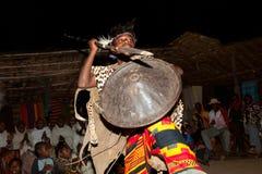 部落Dorze的女孩在阿尔巴Minch附近的,在南埃塞俄比亚 P 免版税图库摄影