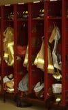 部门火衣物柜 库存照片