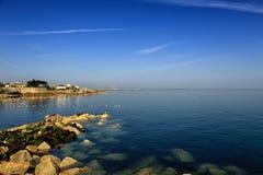 都伯林海湾,都伯林,爱尔兰 免版税库存照片