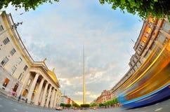 都伯林爱尔兰中心标志-尖顶 库存照片