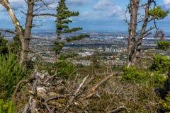 都伯林,从都伯林山的爱尔兰看法  库存照片