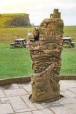 都伯林,爱尔兰- 2017年2月17日:在莫赫悬崖经验的雕塑 库存图片