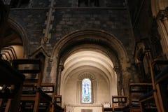 都伯林,爱尔兰- 2018年2月22日:基督教会内部2月22日的在都伯林 基督教会是配音的主要大教堂 库存照片