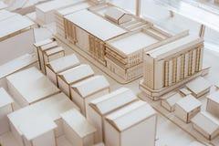 都市与优质的建筑学白色模型 库存图片