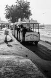 都市乐趣火车在夏天镇 免版税库存照片