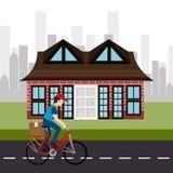 都市交通和车 免版税库存照片