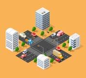 都市交通街道 向量例证