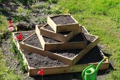 都市从事园艺用土豆 免版税库存照片