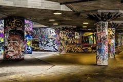 都市伦敦-街道画艺术 库存照片