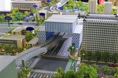 都市公交模型  免版税库存图片