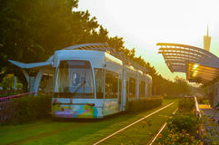 都市公共交通工具设施 库存照片