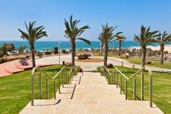 都市公园在阿什杜德,以色列。 库存照片