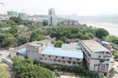 都市化在中国 免版税库存照片