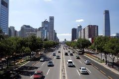 都市北京s的街景画 免版税库存照片