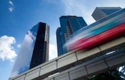 都市单轨的培训 免版税图库摄影