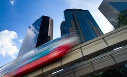 都市单轨的培训 免版税库存照片