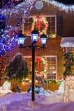都市圣诞节 免版税图库摄影