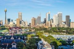 都市地平线,悉尼,澳大利亚 库存图片