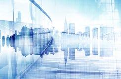 都市场面和摩天大楼抽象看法  免版税库存照片