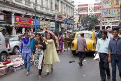 都市场面在加尔各答,印度 免版税库存图片