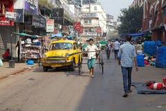 都市场面在加尔各答,印度 免版税库存照片