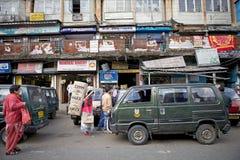 都市场面在大吉岭,印度 库存照片