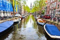 都市场面在阿姆斯特丹 免版税图库摄影