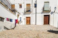 都市场面,一条街道的看法在格拉纳达,南西班牙 图库摄影