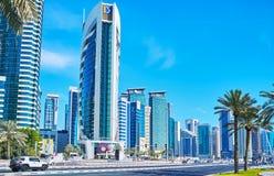 都市场面,多哈,卡塔尔 库存照片