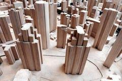 都市城市区域计划模型 免版税库存照片