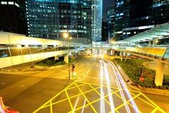 都市城市在晚上 库存照片