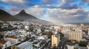 都市城市地平线,开普敦,南非。 免版税图库摄影