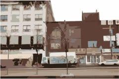 都市城市的场面 库存图片