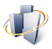 都市城市的摩天大楼 免版税库存图片