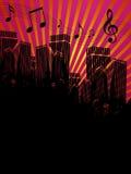 都市城市的音乐 向量例证