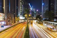 都市城市高速公路在晚上 图库摄影