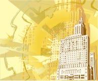 都市大厦的grunge 库存例证